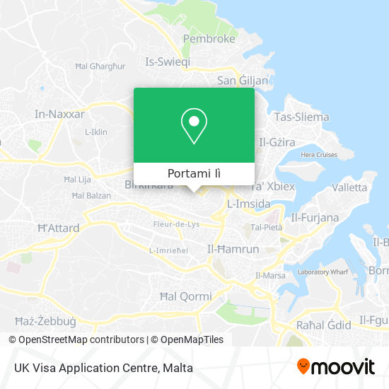 Mappa UK Visa Application Centre