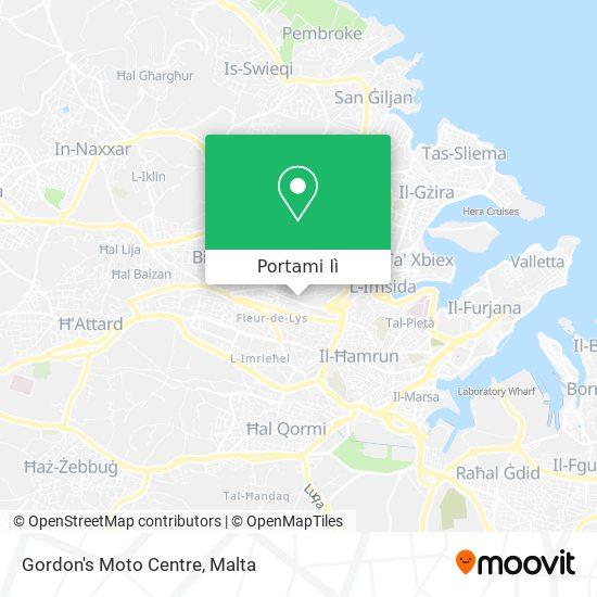 Mappa Gordon's Moto Centre