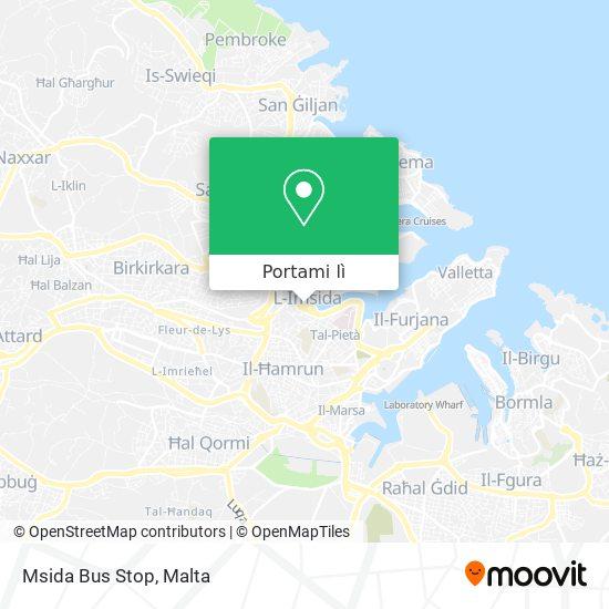 Mappa Msida Bus Stop