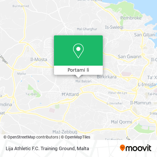 Mappa Lija Athletic F.C. Training Ground