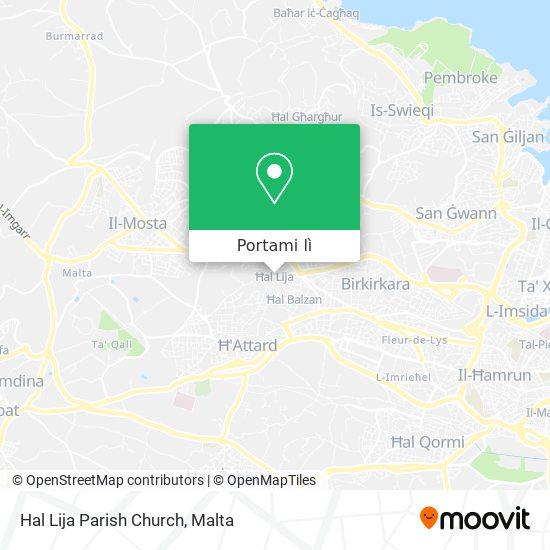 Mappa Hal Lija Parish Church