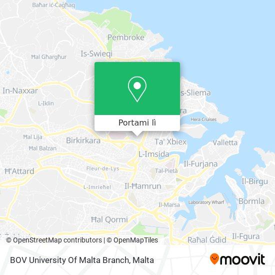Mappa BOV University Of Malta Branch