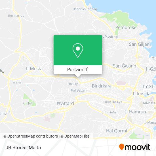 Mappa JB Stores
