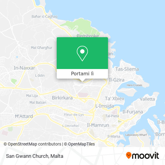 Mappa San Gwann Church
