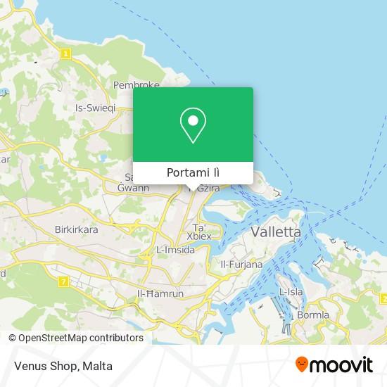 Mappa Venus Shop