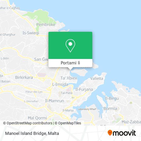 Mappa Manoel Island Bridge