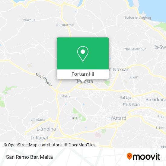 Mappa San Remo Bar