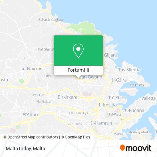 Mappa MaltaToday