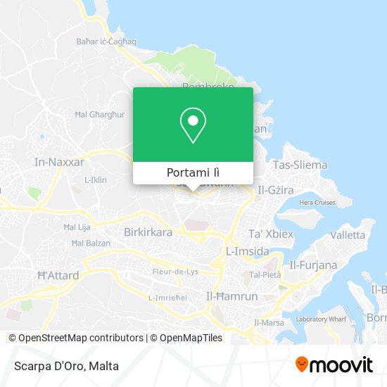 Mappa Scarpa D'Oro