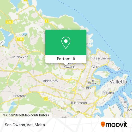 Mappa San Gwann, Vet