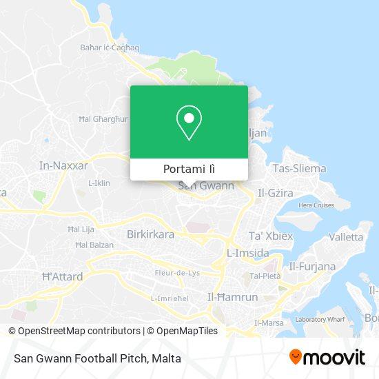 Mappa San Gwann Football Pitch