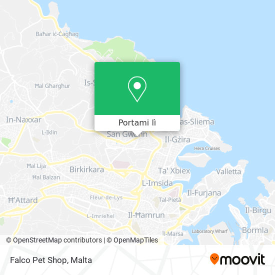 Mappa Falco Pet Shop