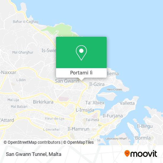 Mappa San Gwann Tunnel