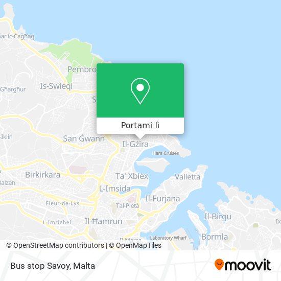 Mappa Bus stop Savoy