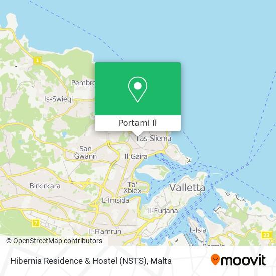 Mappa Hibernia Residence & Hostel (NSTS)