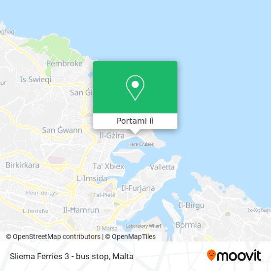 Mappa Sliema Ferries 3 - bus stop