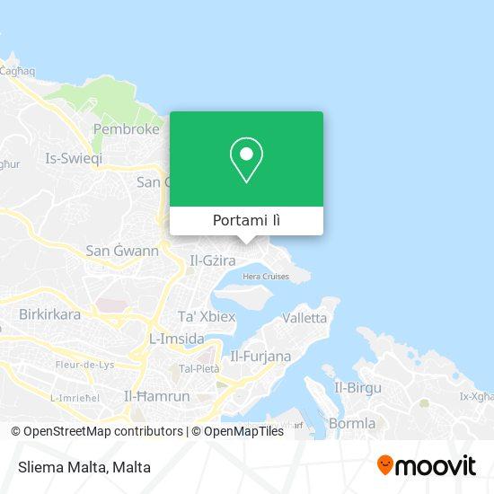 Mappa Sliema Malta
