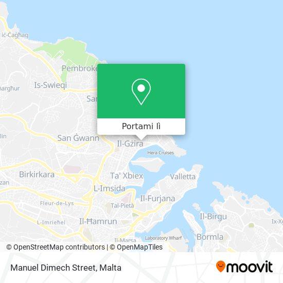 Mappa Manuel Dimech Street