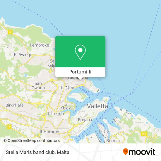 Mappa Stella Maris band club