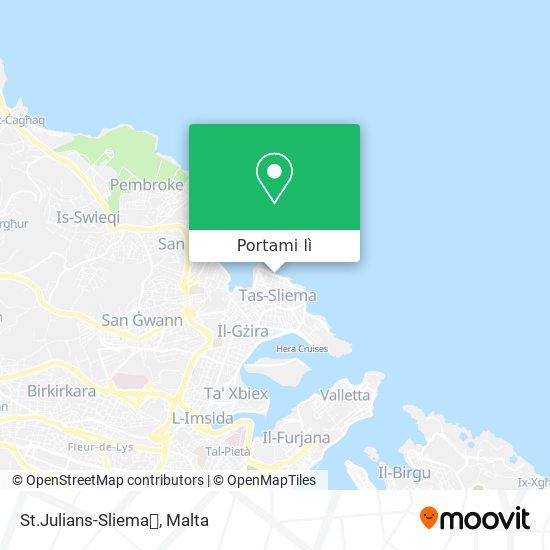 Mappa St.Julians-Sliema🏃