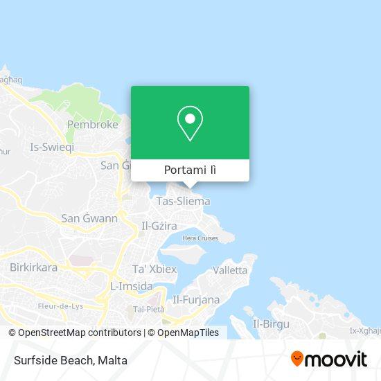 Mappa Surfside Beach