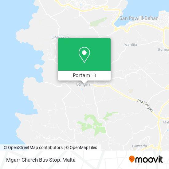 Mappa Mgarr Church Bus Stop