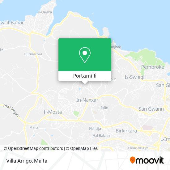 Mappa Villa Arrigo