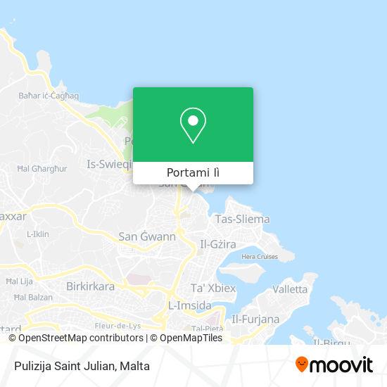 Mappa Pulizija Saint Julian