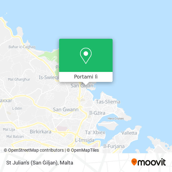 Mappa St Julian's (San Ġiljan)