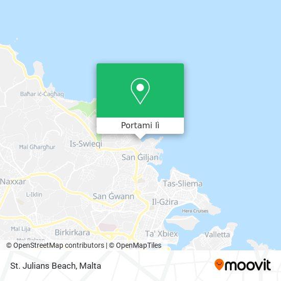Mappa St. Julians Beach