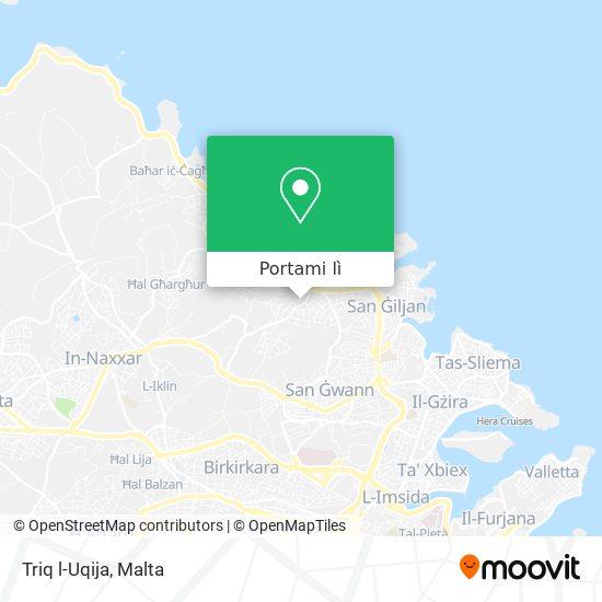 Mappa Triq l-Uqija