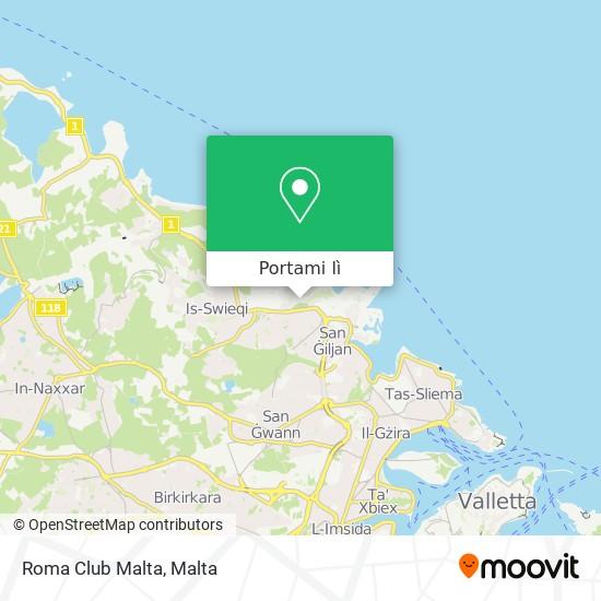 Mappa Roma Club Malta