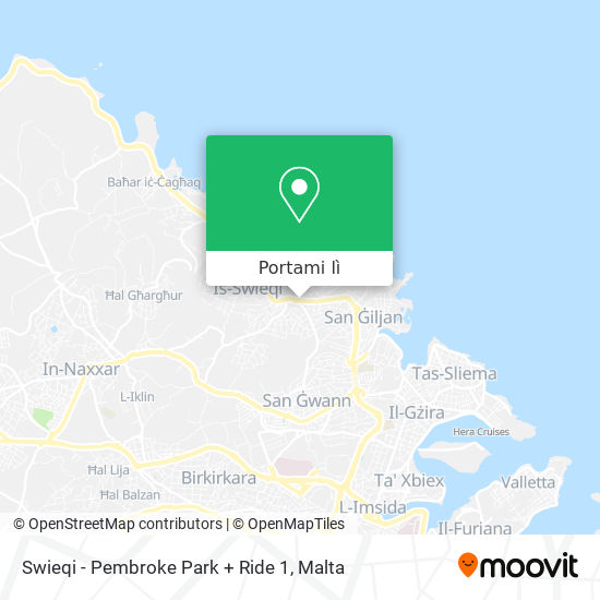 Mappa Swieqi - Pembroke Park + Ride 1