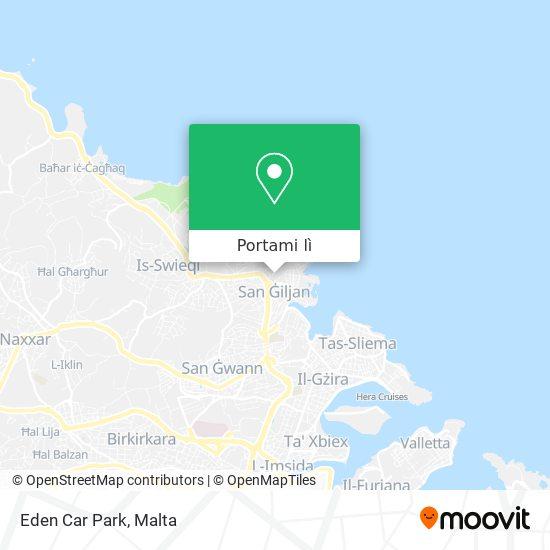 Mappa Eden Car Park