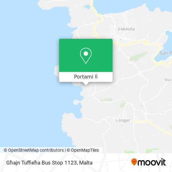 Mappa Għajn Tuffieħa Bus Stop 1123