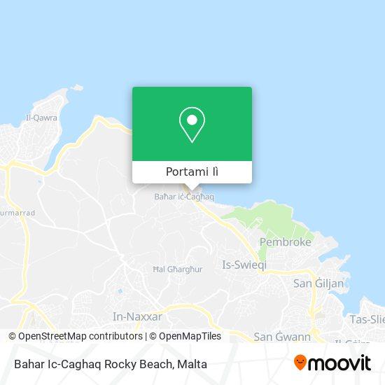 Mappa Bahar Ic-Caghaq Rocky Beach