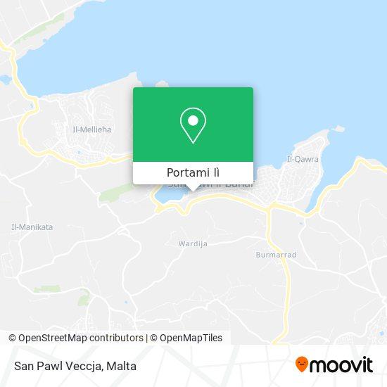 Mappa San Pawl Veccja