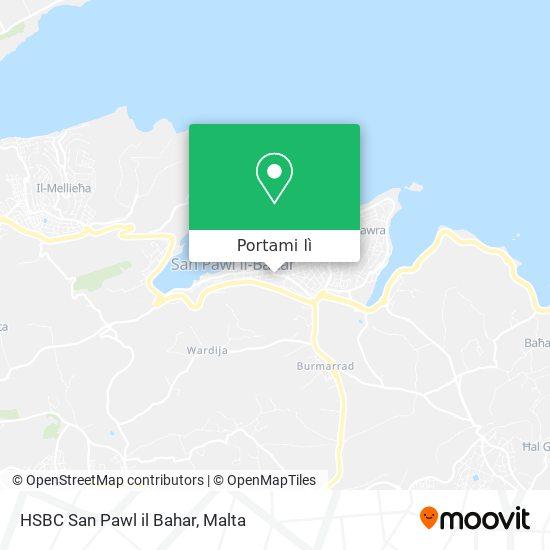 Mappa HSBC San Pawl il Bahar