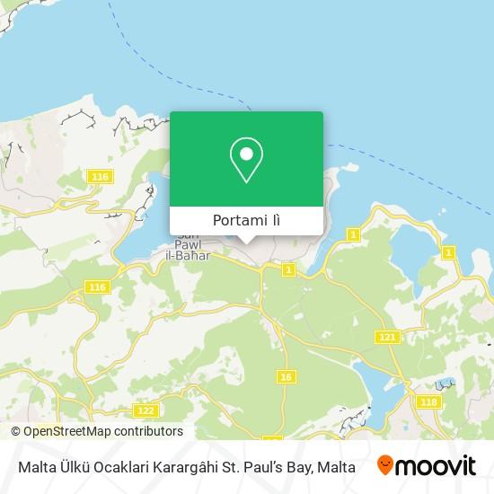 Mappa Malta Ülkü Ocaklari Karargâhi St. Paul's Bay