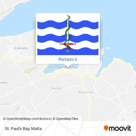 Mappa St. Paul's Bay