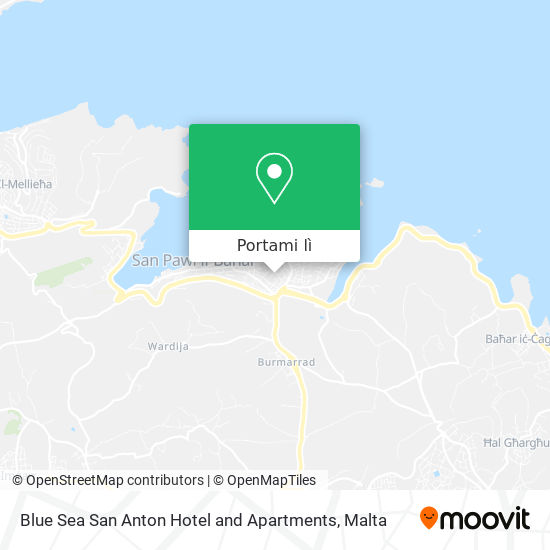 Mappa Blue Sea San Anton Hotel and Apartments
