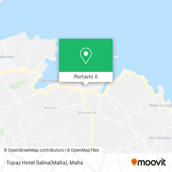 Mappa Topaz Hotel Salina(Malta)