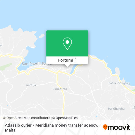 Mappa Atlassib curier / Meridiana money transfer agency