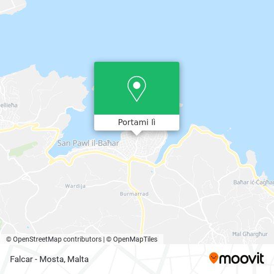 Mappa Falcar - Mosta