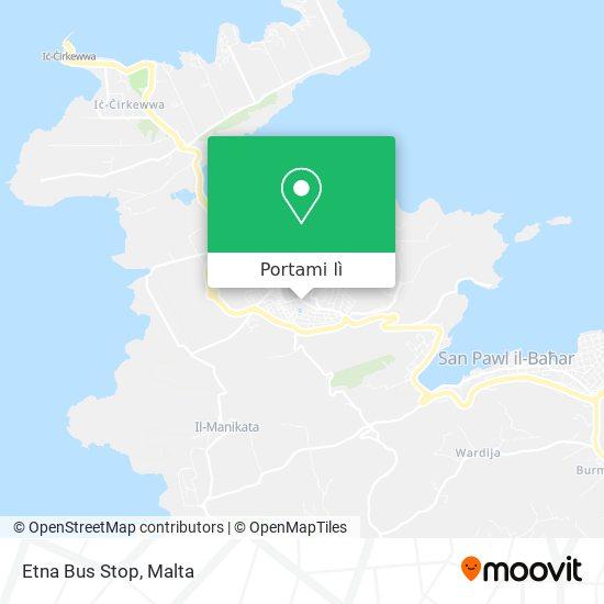 Mappa Etna Bus Stop