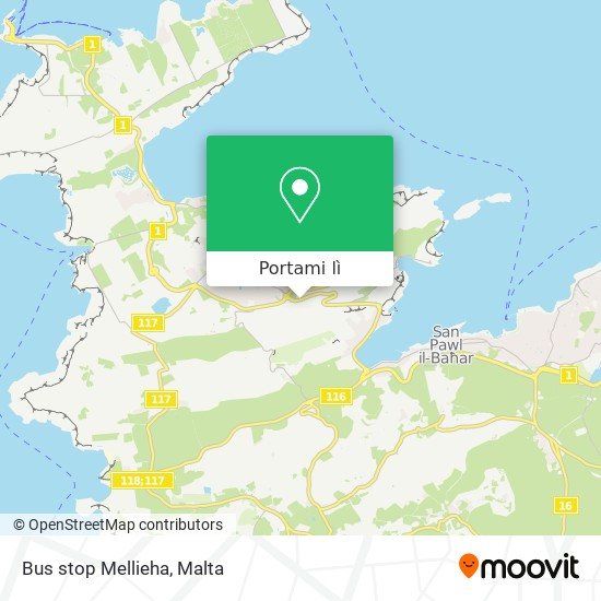 Mappa Bus stop Mellieha