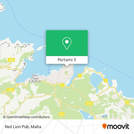 Mappa Red Lion Pub