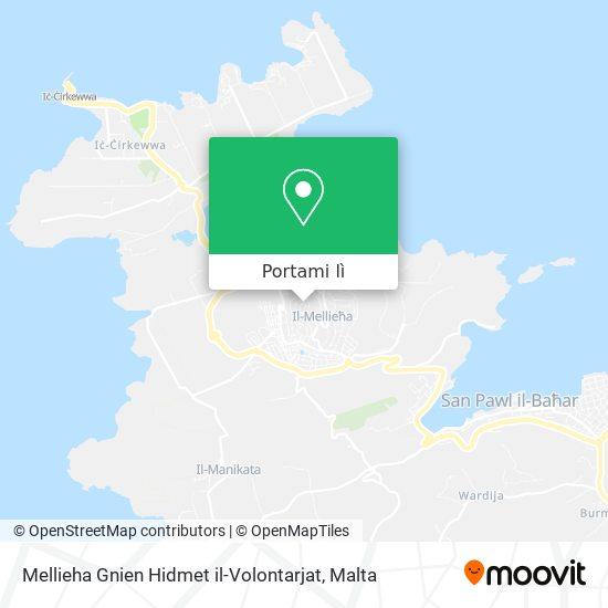 Mappa Mellieha Gnien Hidmet il-Volontarjat