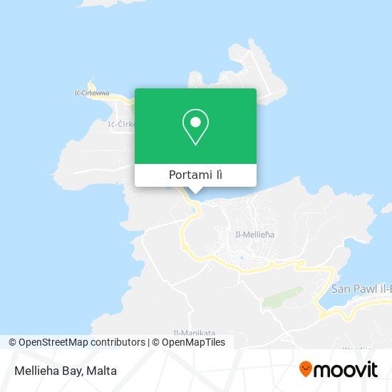 Mappa Mellieha Bay