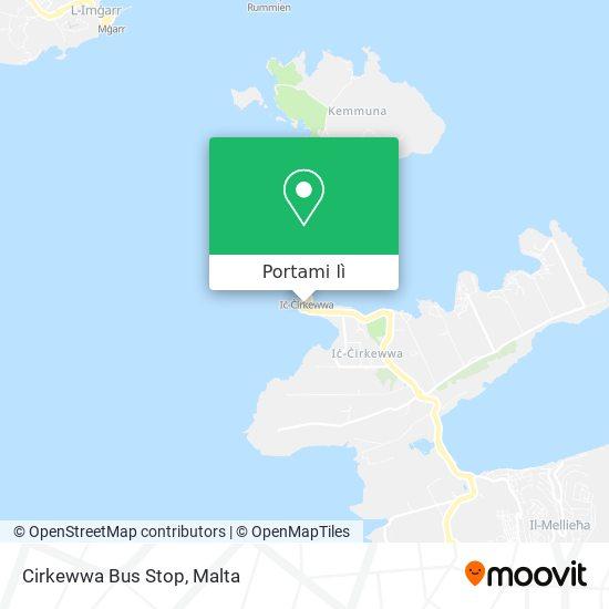 Mappa Cirkewwa Bus Stop